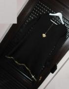 Nowa cudna czarna złota tunika trapez