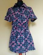 Letnia sukienka koszulowa vintage S bawełna...