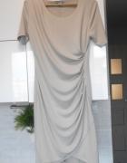 HM szara stalowa sukienka bodycon elegancka...
