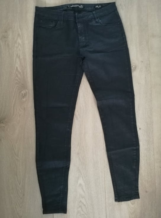ZARA połyskujące spodnie slim fit
