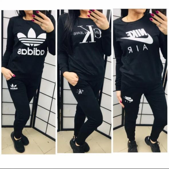 Dres zestaw damski logo ck calvin klein adidas nike spodnie bluza
