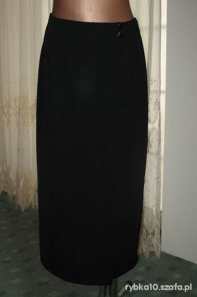 Spódnice czarna spódnica portfelowa 40