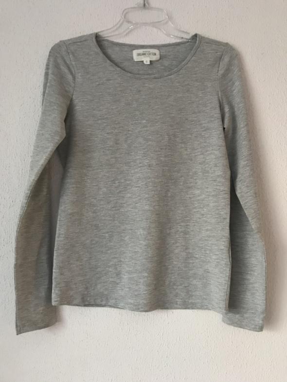 Bluzki Szara bluzka Reserved S 36 z bawełny organicznej ekologicznej