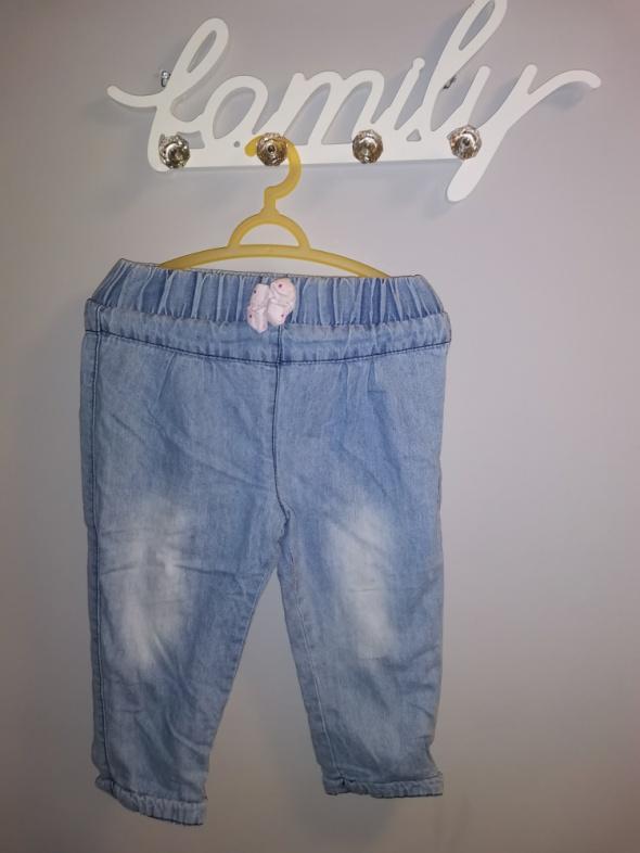 Ocieplane jeansy r 12 18 miesiące