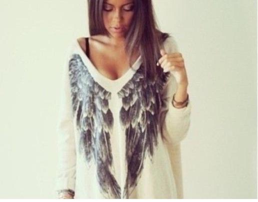 Milutki sweter skrzydła