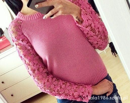 Cudny sweterek koronka rękawy NOWOŚĆ