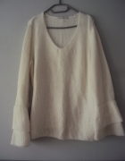 śmietankowy sweterek...