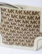 Torebka Beżowa Michael Kors Oryginalna MK Logowana Beż Torba...