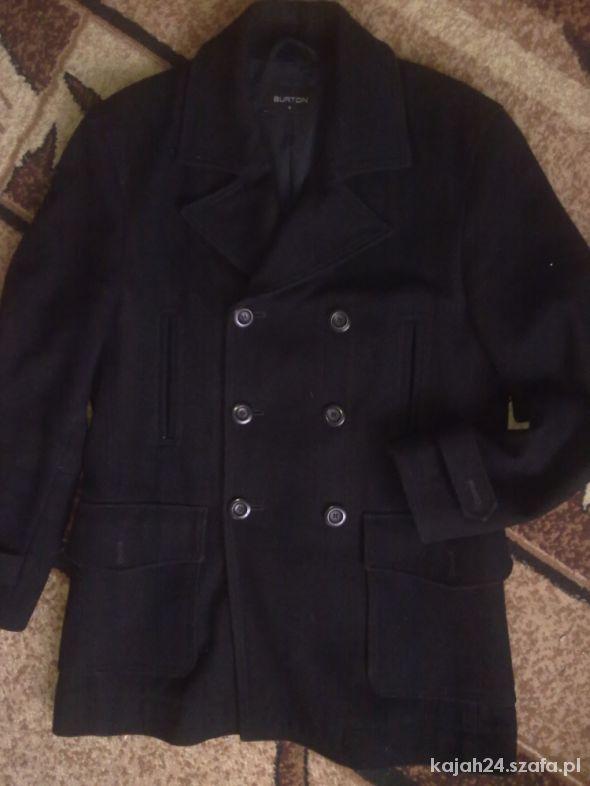 BURTON wełniany płaszcz męski M
