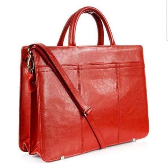 Damska skórzana dyplomatka torba teczka...