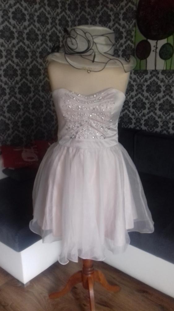 Sukienka rozkloszowana pudrowy róż 14 LIPSY