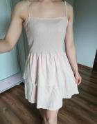 Letnia sukienka falbanki ramiączka xl...