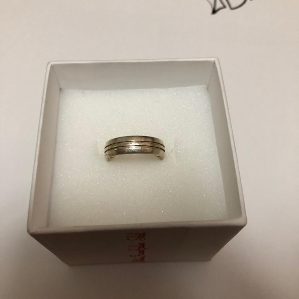 Delikatna srebrna obrączka 925