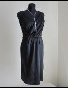 MAŁA czarna elegancka sukienka nowa z metką sklepową 40 L...