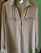 Jasnobrązowa koszula...