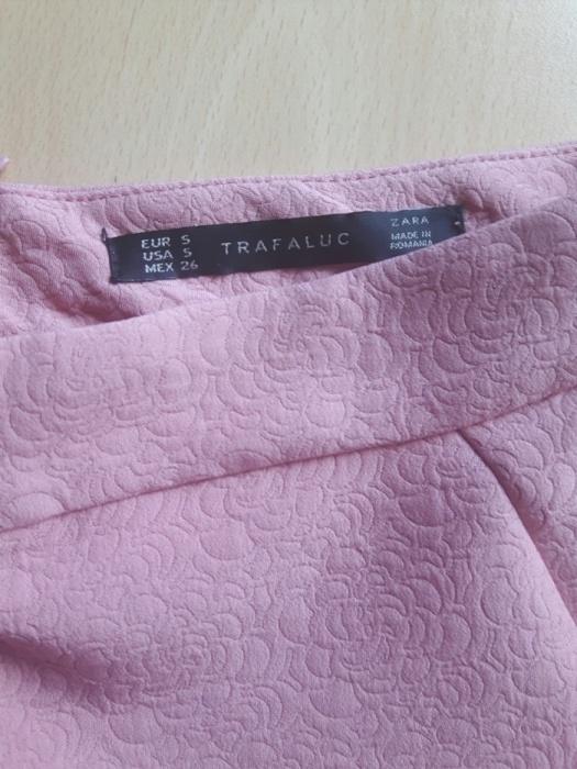 Spódniczka Zara róż roz S rozkloszowana