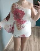 Tunika sukienka na jedno ramię