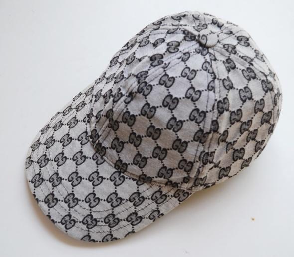 Nakrycia głowy Czapka Szara Gucci Bejspolówka Daszek 58 Logo Logowana