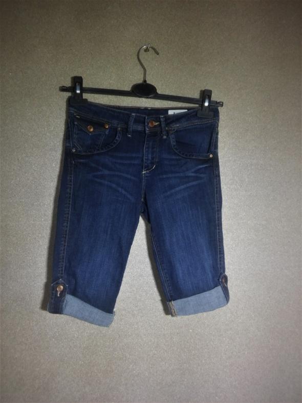 H&M Jeansowe krótkie elastyczne spodenki 36...