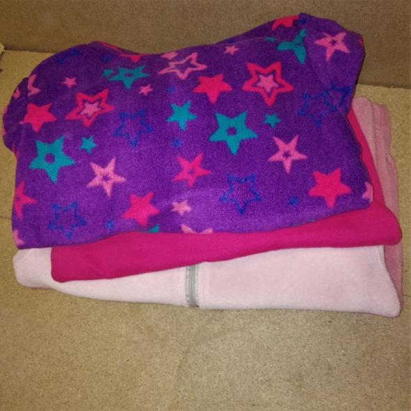 Ciepłe bluzy dla dziewczynki 122 cm 7 8 lat ZESTAW 3 sztuki