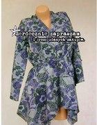 M L NOWA Efektowna asymetryczna bluzka tunika