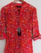 Reserved Nowa Koszula w stylu boho regulowane rękawy 34 XS...