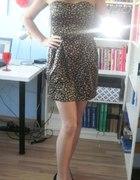 Ax Paris sukienka w panterkę gorsetowa nowa Axara...