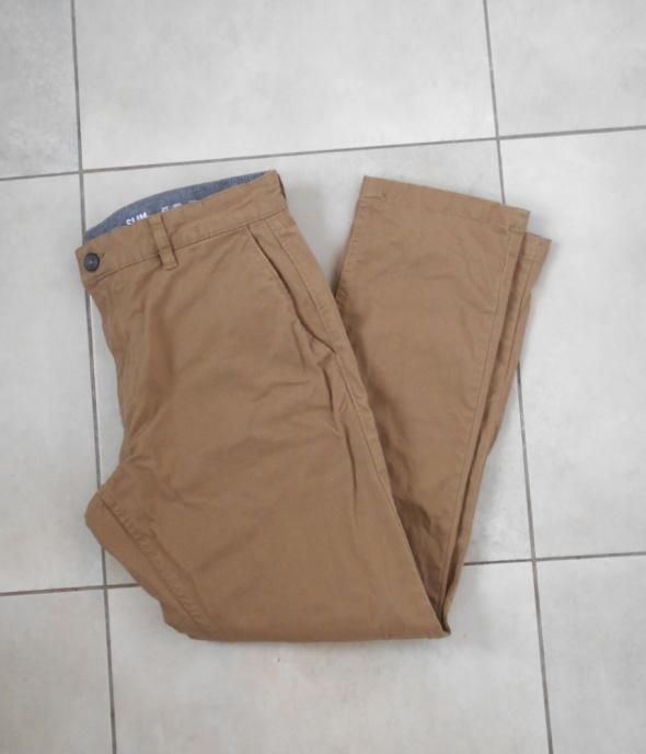 FF męskie beżowe chinosy spodnie chino