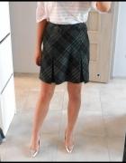 Marks Spencer szara spódniczka mini kratka plisy...
