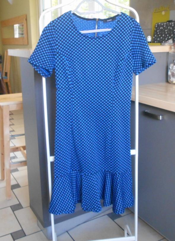 Suknie i sukienki George retro sukienka groszki grochy falbanka