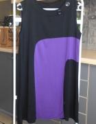 Orsay retro sukienka geometryczne wzory guziki...