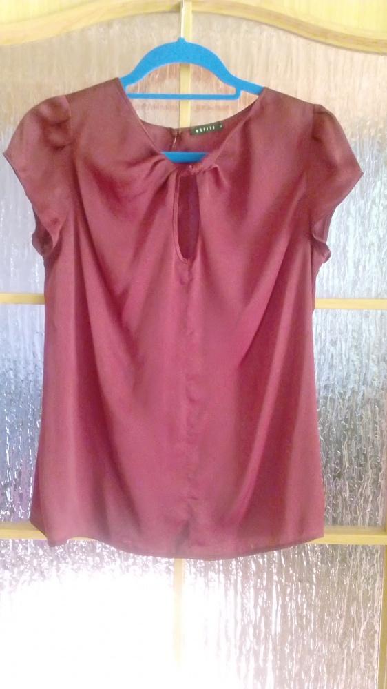 Bluzka w kolorze wina bordo elegancka 38 40...