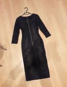 sukienka ołówkowa z zipem midi...