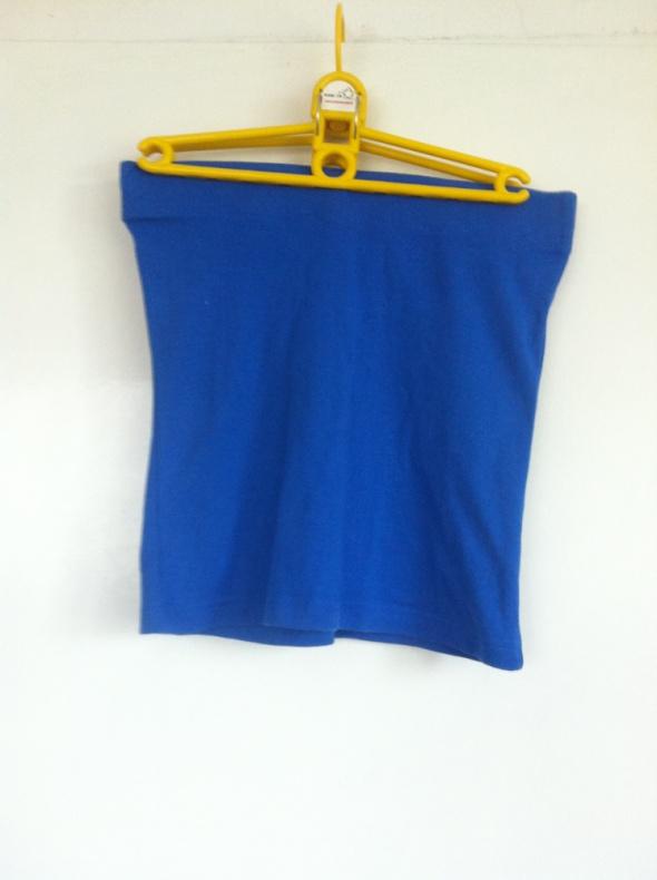 Spódnice Niebieska granatowa mini spódnica obcisła ołówkowa