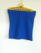 Niebieska granatowa mini spódnica obcisła ołówkowa...