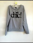 Bluza Szara Lady Chic S 36 uniwersalna efektowna...