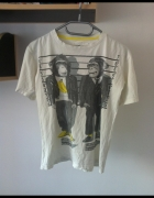 Koszulka t shirt nadruk małpki sportowa biała XS S...