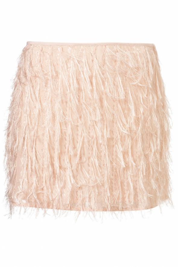 Topshop nowa mini spódniczka frędzle fringe piórka