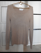 CA sweter cienki nude beżowy dopasowany klasyka...