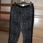 Cropp chillin wężowe spodnie alladynki szare