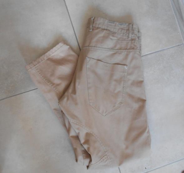 Jack Jones beżowe męskie spodnie szerokie chinosy