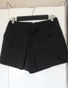 New Look czarne szorty zakładka satynowe neopren...