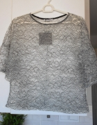 Zara nowa koronkowa bluzka oversize mgiełka przezroczysta...