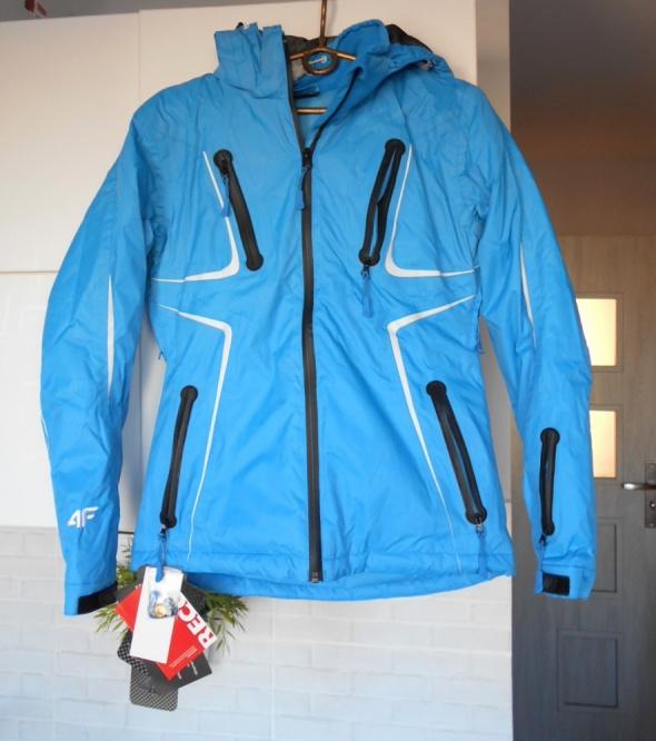 4F nowa narciarska kurtka niebieska aquatech 10tys klejone szwy...