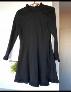 Zara nowa czarna sukienka rozkloszowana falbanki...