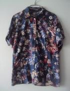 granatowa koszula w kwiatuszki...