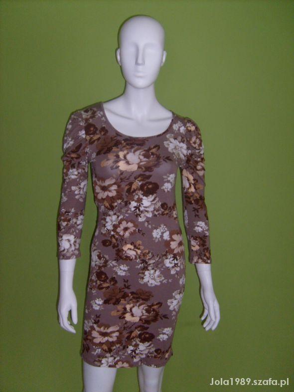 Suknie i sukienki ŚLICZNA SUKIENKA FLORAL NA JESIEŃ M
