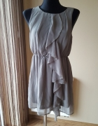 Zwiewna sukienka khaki H&M roz 36