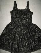 NEXT czarno złota rozkloszowana sukienka roz 36...
