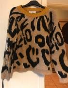 Sweter panterka modny gruby...